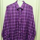Robert Graham - Purple Long Sleeve Men's Medium Button Down Classic Fit