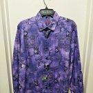Robert Graham - Purple Colorful Long Sleeve - Men's Medium Button Down Classic