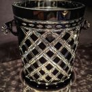 Black & Clear Cut Champagne Ice Bucket
