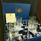 Faberge Atelier Crystal Collection  Highball Glasses set of 4 NIB