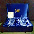 """Faberge Atelier Clear Crystal Collection Tall Glasses  5 3/8"""" H x 2 3/4"""" W"""