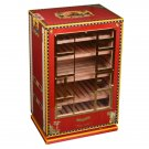 Elie Bleu Cabinet Humidor Alba Red Sycamore Wood NIB Made in France