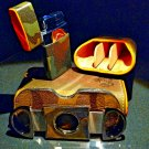Brizard and Co Camouflage and Orange Leather Carrying case, cutter and lighter