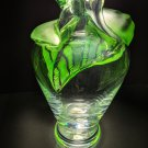 "Lalique Tanega Emerald Green 14"" Vase"