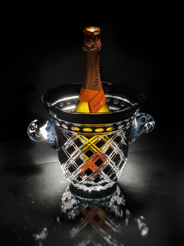 Black Crystal Champagne Ice Bucket