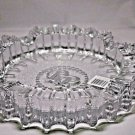 "Rocky Patel Luminoso Clear Glass Ashtray Gorgeous 10"" Diameter"
