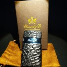 Brizard and Co Genuine Black Caiman Leather Lighter & Series 2 Cutter