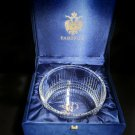 "Faberge Clear Crystal Bowl 8.5"" diameter"