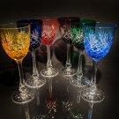 Faberge Odessa  Hock Colored Wine Glasses