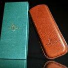 "Pheasant Carmal Leather Eyeglasses  Case 3""wide"