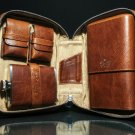 Brizard and Co Antique Saddle Leather Traveler