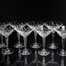 Faberge Clear Crystal Martini Glasses