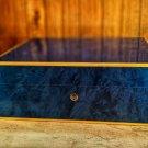 Elie Bleu Madrona Blue Sycamore Wood Humidor 75 count NIB