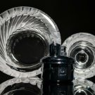 LALIQUE   Smyrne Ashtray and Table Lighter