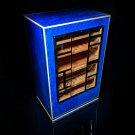 Elie Bleu Cabinet Madrona Blue Burl with White Edges Cabinet