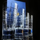 Faberge Metropolitan Clear Crystal Double Old Fashion Glasses