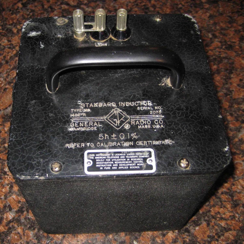 General Radio Standard Inductor Type 1482-R 5 Henry