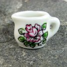 Tiny White Ceramic Flower decorated Pitcher Occupied Japan