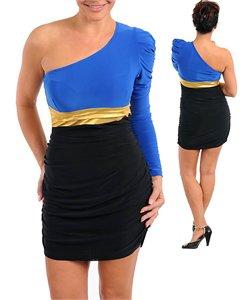 ROYAL GOLD & BLACK DRESS
