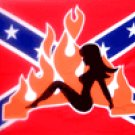 REBEL WITH GIRL Flag 3'x 5'