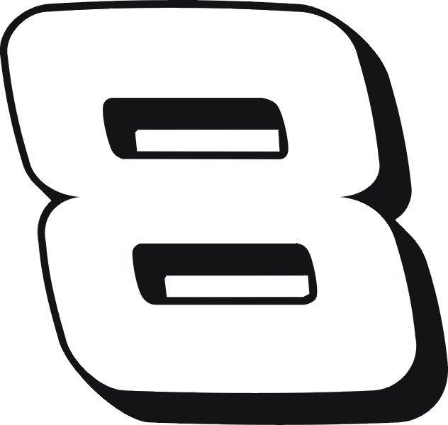 """8"""" VINYL STICKER"""
