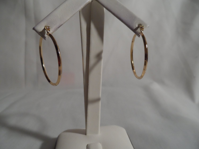18 kt Gold Hoop  Earrings (0411)