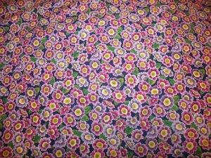 Flower Mart Primrose-Periwinkle  Cotton Fabric  from Benartex 1 yd