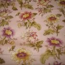 Flora and Fauna Pink (03517)  cotton Fabric  from Benartex 1  yd