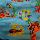 Handmade Blue Fish Design Crib/Toddler Bed Fitted Sheet