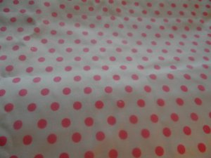 Handmade Pink and White Polka dots  Cotton   Crib/Toddler Fitted Sheet