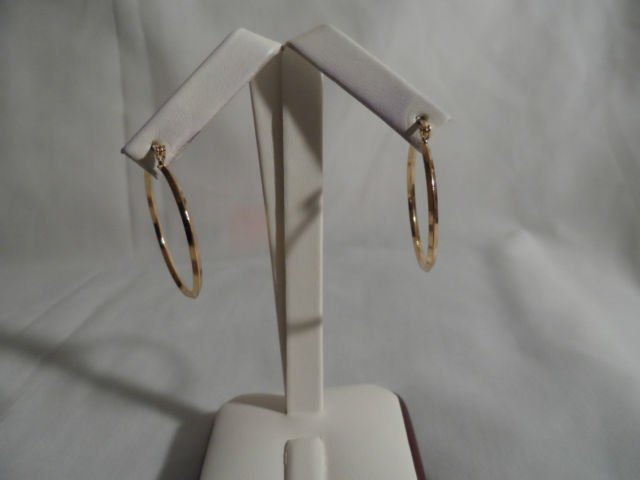 18 kt Gold Hoop  Earrings