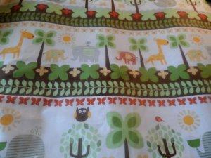 Handmade Animal Print  Cotton   Crib/Toddler Fitted Sheet
