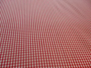 Handmade Cotton Red Gingham Crib/Toddler Fitted Sheet