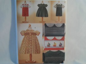 Vogue  Girl's Dress and Boy's Outfit Smocking Pattern V 7504 -New Size 1,2,3,4