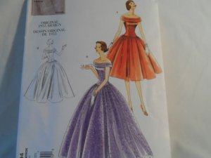 Vogue Vintage 1955 Dress Pattern V1094 -New Size 6,8,10,12