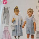McCall's Children's Dress,Rompers and Shirt Pattern ,6304 size 1,2,3