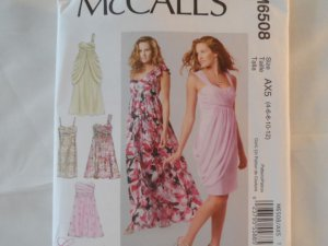 McCall's Women's Dress Pattern ,6508 size 4,6,8,10,12
