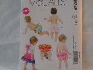 McCall's  Infant's  Panties Pattern 6345,size sm,med,lrg,x-lrg