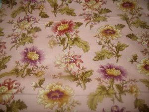 Flora and Fauna Pink (03517)  cotton Fabric  from Benartex 1/ 2 yd