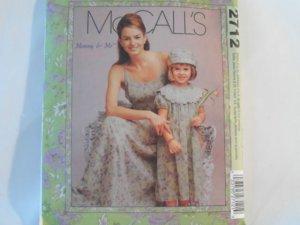 McCall's  Girl's Dress Pattern 2712 - Uncut ,size  Misses 8 - 22,girls 3 - 8