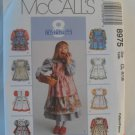 McCall's  Girl's Dress Pattern 8975 - New ,size  4,5,6