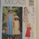 McCall's  Girl's Dress Pattern 3117- New ,size  10,12,14
