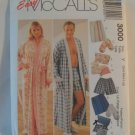 McCall's  Misses and Men's Robe Slippers and Case Pattern 3000 size sml,med,lrg