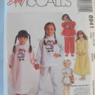 McCall's  Girl's Nightdres and Pajama Pattern 8941- New ,size  4.6