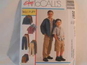 McCall's Boy's Shirt,Jacket and Pants Pattern 2087- New ,size  7,8,10,12