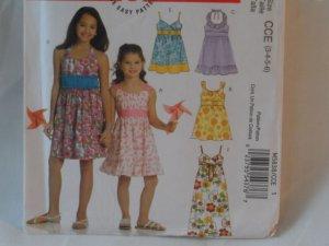 McCall's  Girl's Dress  Pattern  5838- New ,size  3,4,5,6