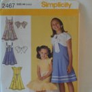 Simplicity Girl's Dress Pattern 2467- New ,size 3,4,5,6