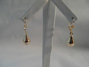 18 kt Gold  Large Tear Drop   Earrings