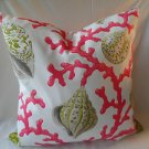 Handmade Decorative Pink and White Seashells Pillow Cover,Throw Covers,20 X 20