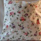 Handmade Decorative Laura Ashley Floral and Plaid Fabric, Pillow Cover, 18 x18